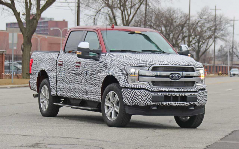 Ford F-150 Ev Spied Trying To Hide It's Electric