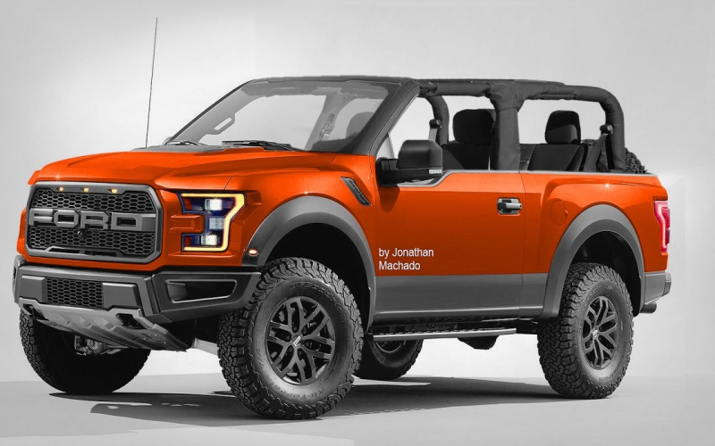 Render New 2018 Ford Bronco Air Roof @ F-150 Removable Roof